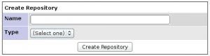 Form used to create a new repository integration.
