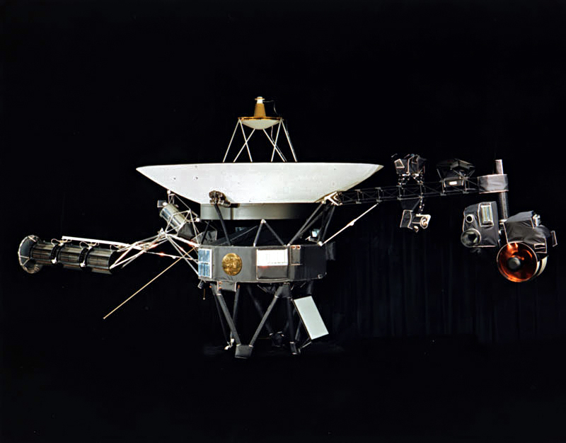 The Voyager probe.